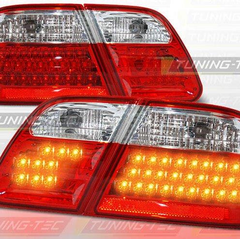Альтернативная оптика для MERCEDES W210 95-03.02 RED WHITE LED