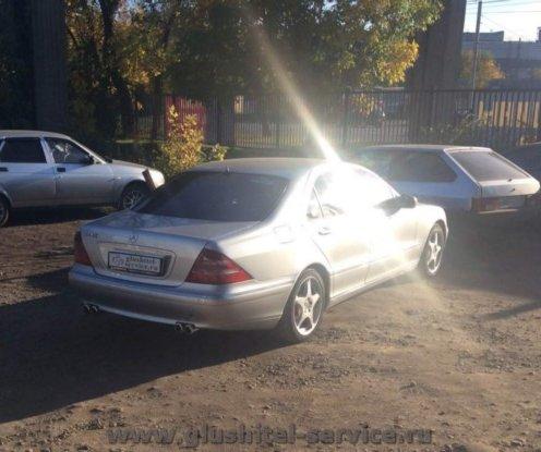 Тюнинг глушителя Мерседес с500 (Mercedes S500), разделяем тракты
