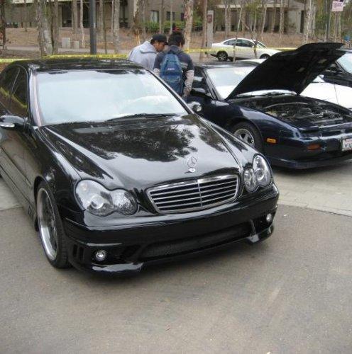 Тюнинг - комплект линзованных фар для Мерседес W203 - Mercedes